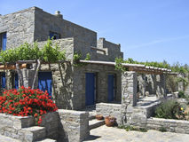 Ett stensommarhus i ön av Paros, arkivfoto