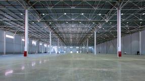Ett stort fabrikslager Arkivbild