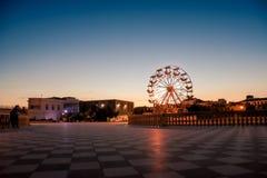 Ett stort ferrishjul på stranden Fotografering för Bildbyråer