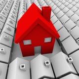 Ett stort hus störst val för många små hus Arkivfoton