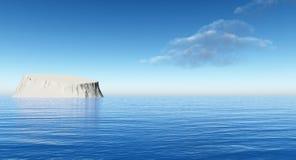 Ett stort isberg i havet royaltyfri illustrationer