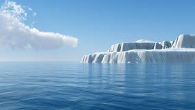 Ett stort isberg i havet vektor illustrationer