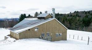Byggnad för sirap för Vermont lantgårdlönn royaltyfria foton