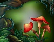 Ett stort träd i regnskogen vektor illustrationer
