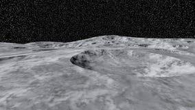 Ett stycke av månens öppet utrymme Arkivfoto