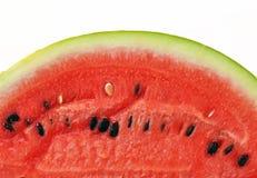 Ett stycke av vattenmeloncloseupen Arkivbilder