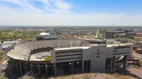 Ett Sun Devil Stadiumskott, Tempe, Arizona Arkivfoton
