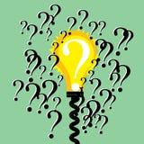 Ett svar bland flera frågor Fotografering för Bildbyråer