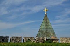 Ett tak av den medeltida kyrkan Arkivbild