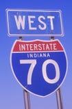 Ett tecken för interstate 70 Royaltyfria Bilder