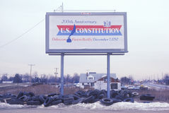 Ett tecken som läser 200. årsdag U för ï¿ ½ S Constitutionï ¿ ½ Fotografering för Bildbyråer