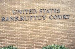 Ett tecken som läser för Courtï för konkurs för Förenta staterna för ï¿ ½ ½ ¿ Arkivfoto