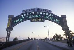 Ett tecken som läser för Santa Monica Yacht Harborï för ï¿ ½ ½ ¿ Royaltyfri Foto