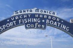 Ett tecken som läser för Santa Monica Yacht Harborï för ï¿ ½ ½ ¿ Arkivfoton