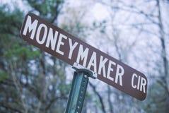 Ett tecken som läser moneymakeren Fotografering för Bildbyråer