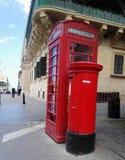 Ett telefonbås i La Valletta malta Royaltyfria Foton