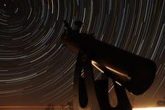 Observation av Polstjärnan Arkivfoto