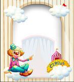 Ett tomt ingång-som mall med en clown Royaltyfria Foton