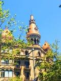 Ett torn i Barcelon Arkivfoto
