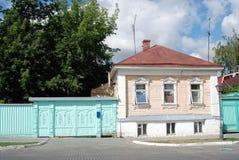 Ett trähus kolomna kremlin russia Arkivfoto