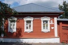 Ett trähus kolomna kremlin russia Arkivbilder