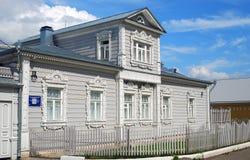 Ett trähus kolomna kremlin russia Royaltyfri Foto