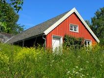 Ett traditionellt norskt hus Fotografering för Bildbyråer