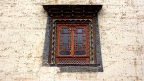 Ett traditionellt tibetant fönster Royaltyfri Bild