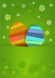 Ett trevligt easter ägg med blommor Arkivbild
