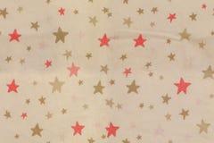 Ett tyg med stjärnatextur Royaltyfria Bilder