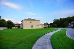 Ett typisk hus i Florida royaltyfria foton