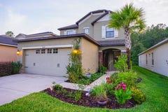 Ett typisk hus i Florida Arkivbilder