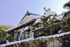 Ett typisk lantligt hus i Japan Fotografering för Bildbyråer