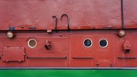 Ett tyskt fartyg i Bremerhaven arkivbild