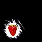 ett utrymme för handstil på en svart bakgrund ny jordgubbe Royaltyfria Foton