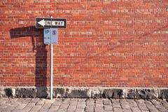 Ett vägtecken Fotografering för Bildbyråer