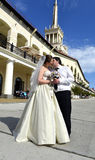 Ett vårbröllop Arkivbilder