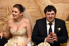 Ett vårbröllop Arkivfoto