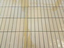 Ett vått wood golv arkivfoton