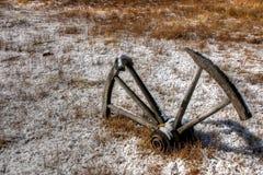 Ett vagnhjul från forntiden Royaltyfria Bilder