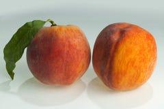 Ett val av ny peaches_1 Arkivfoto
