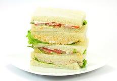 Ett val av smörgåsar med olika fyllningar Royaltyfria Bilder