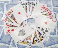 Kort - poker Arkivfoton
