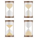 Ett verkligt timglas vektor illustrationer