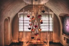 Ett vinrum i den Ehrenbreitstein fästningen fotografering för bildbyråer