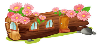 Ett wood hus Royaltyfri Fotografi