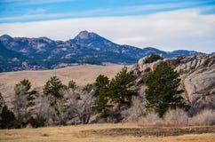 Ett Wyoming landslandskap 1 Arkivfoto