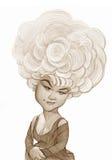 Etta James Caricature skissar Royaltyfri Fotografi