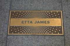 Etta James Plaque Imágenes de archivo libres de regalías