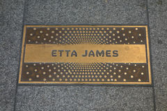 Etta James Plaque Royalty Free Stock Images